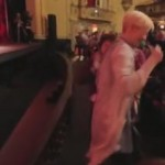 Tilda Swinton dancing along on Barry White