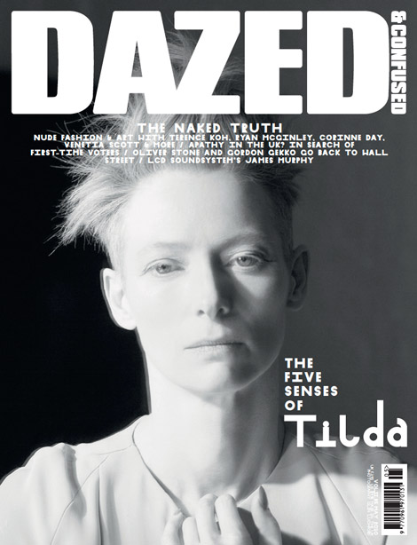 Tilda Swinton Dazed and Confused May 2010 second cover