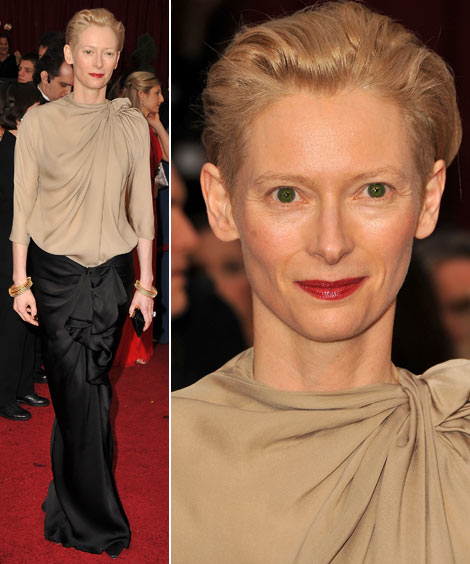 Tilda Swinton In Lanvin Top And Skirt For 2009 Oscars