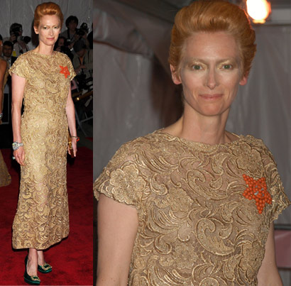 Tilda Swinton In Prada At Met Gala