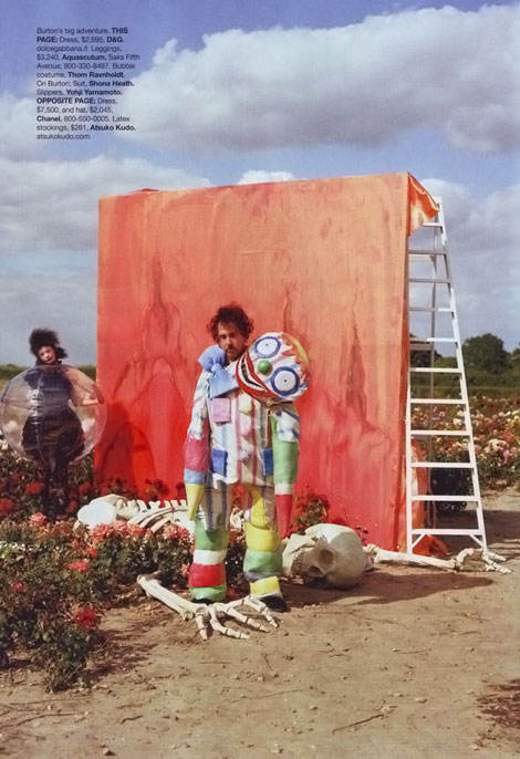 Tim Burton Harper s Bazaar october 2009 photo