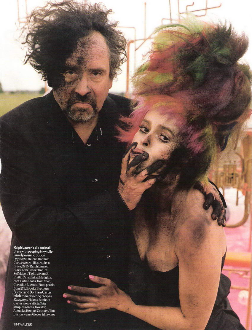 Tim Burton Helena Bonham Carter Vogue UK December 2008 Tales of the Unexpected 1