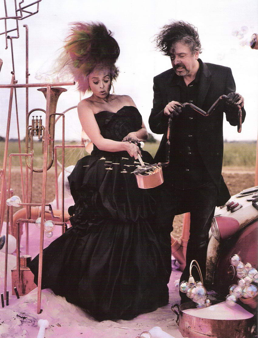 Tim Burton Helena Bonham Carter Vogue UK December 2008 Tales of the Unexpected 2