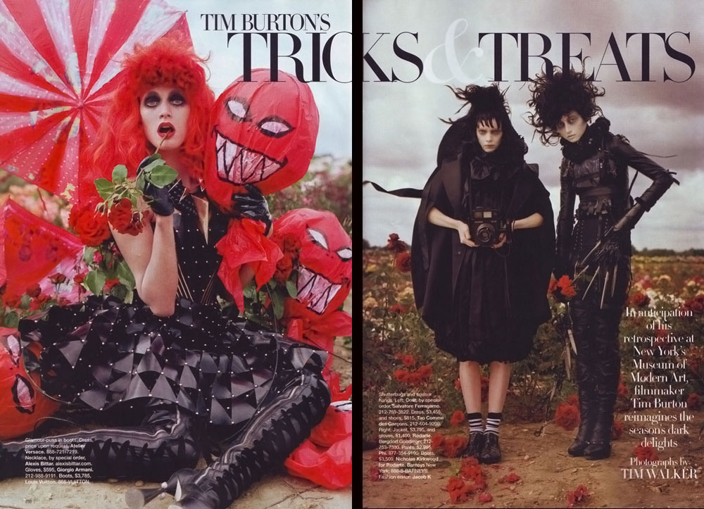 Tim Burton's Magical Fashion In Harper's Bazaar October 2009