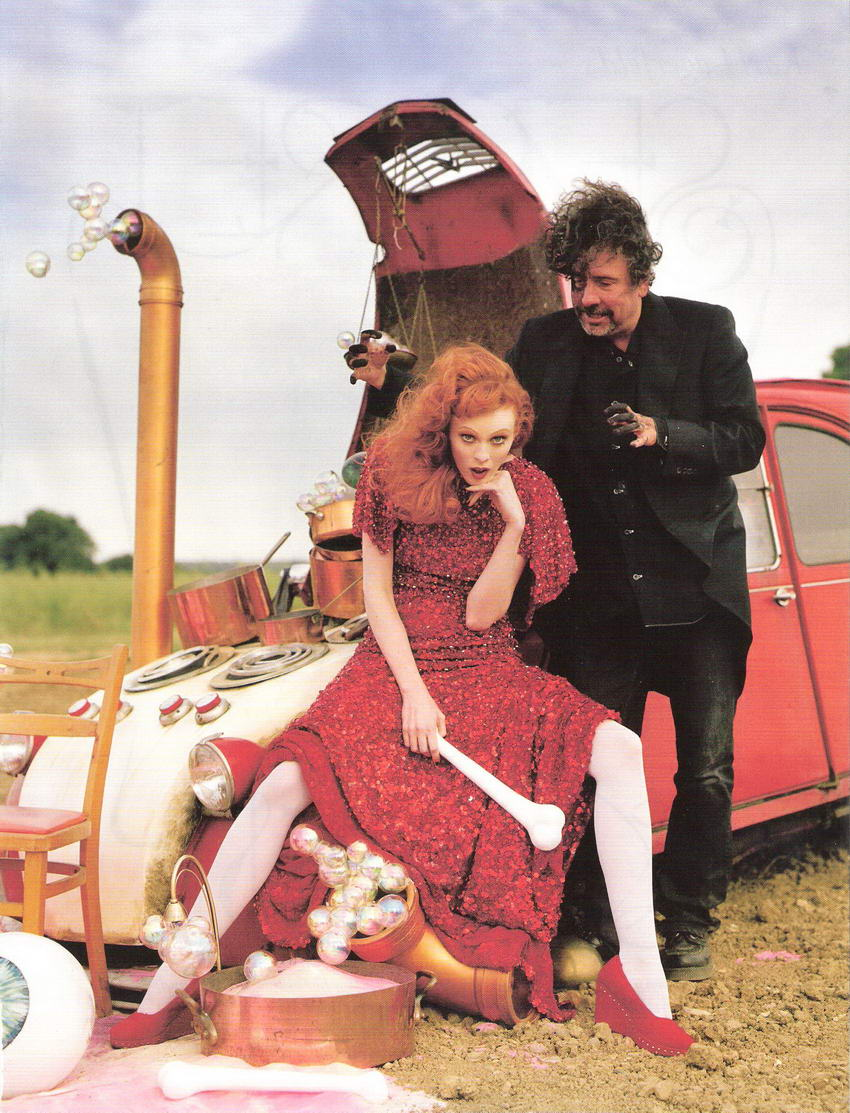 Tim Burton Vogue UK December 2008 Tales of the Unexpected