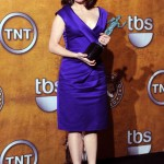 Tina Fey blue Ferragamo dress 2010 SAG awards