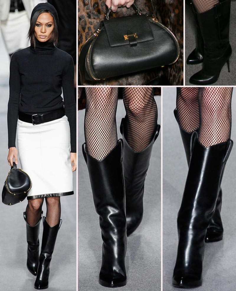 Tom Ford fall 2014 boots handbags