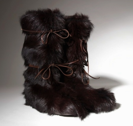 Tom Ford Fur Boots Collection black