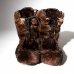 Tom Ford Fur Boots Collection brown