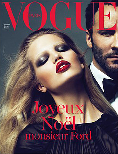 Tom Ford Vogue Paris December 2010 January 2011 cover