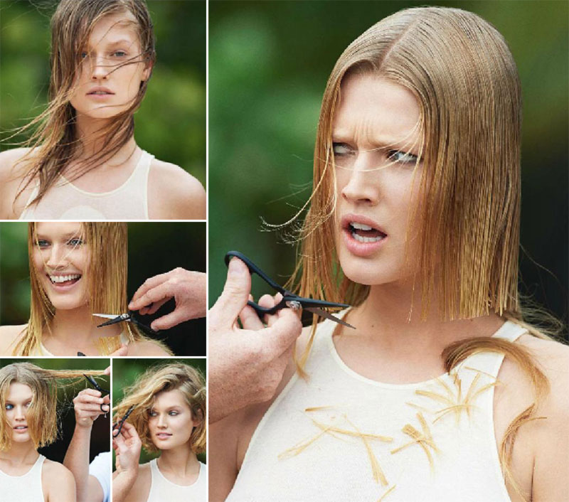 Toni Garrn Vogue Paris new haircut