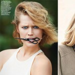 Toni Garrn with short and long hair