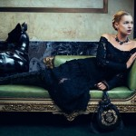 too much photoshop used on Kate Moss in Ferragamo Fall 2012 ad campaign