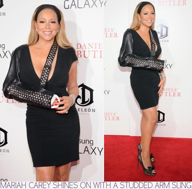 Top Trends celebrities Mariah Carey blinged booboo