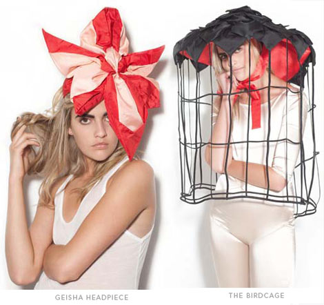 Tour de Force Geisha Birdcage headpieces