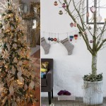 traditional Christmas Tree vs Untraditional Christmas decorated tree