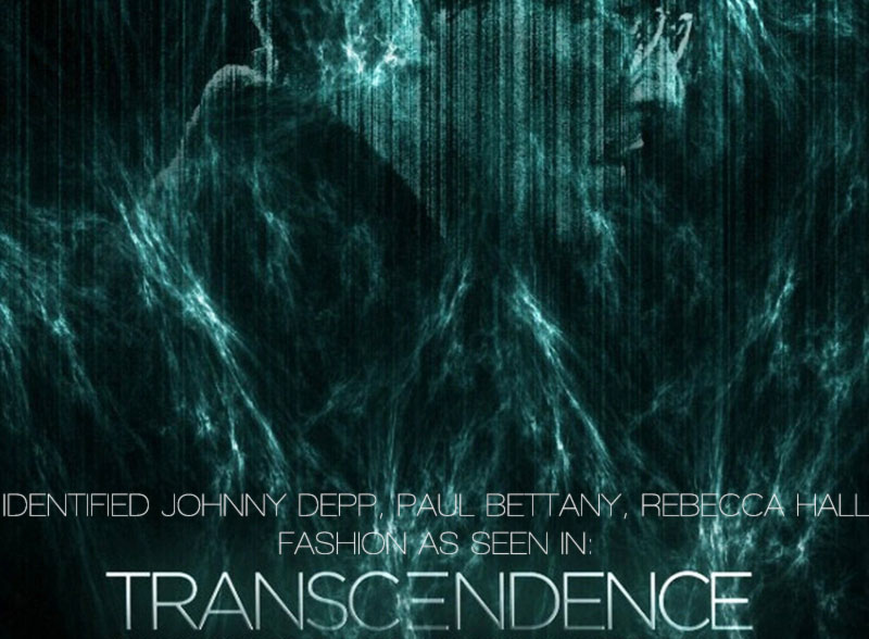 Transcendence movie fashion Johnny Depp Paul Bettany Rebecca Hall