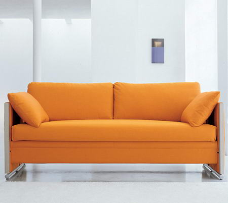 Transformable Orange Sofa