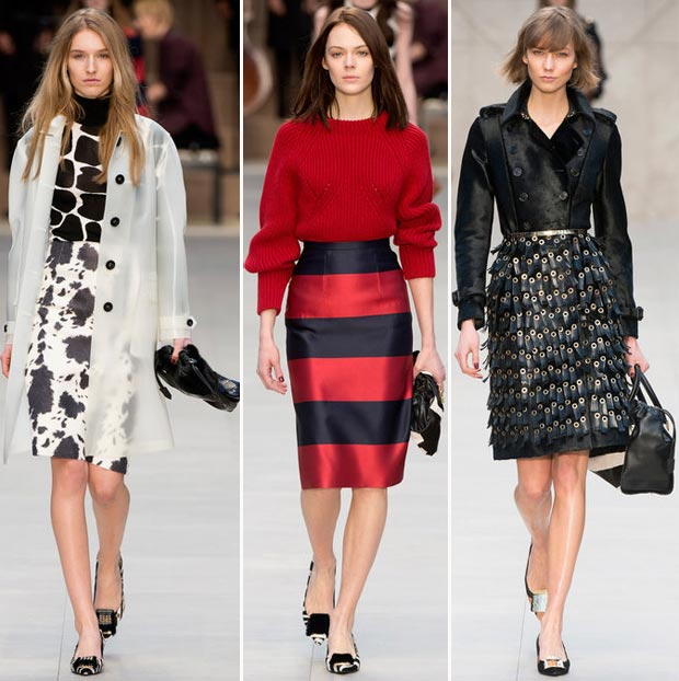 Scandalous Call Girl Inspired Burberry Fall 2013 Collection