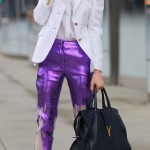 trendy paint drip pants Elettra Wiedermann