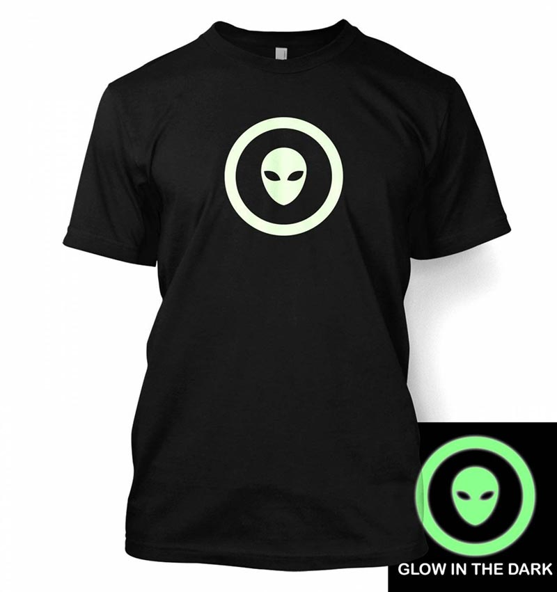 tshirt with glow in the dark print