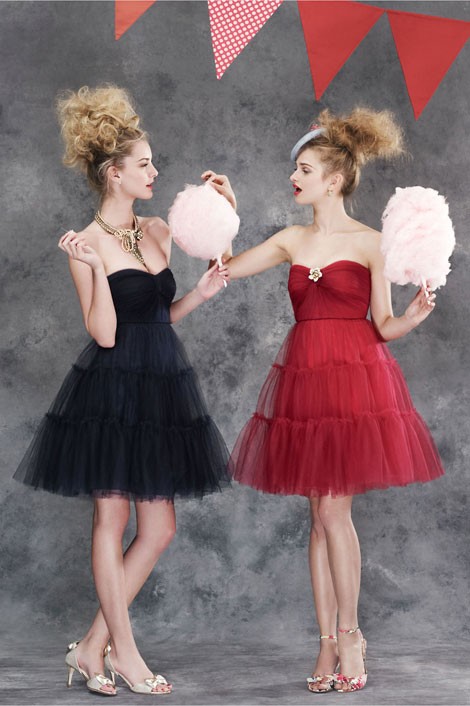 tulle party dresses Summer Favorite Dresses: Strapless Tulle Dress
