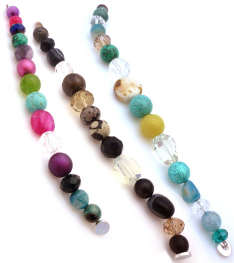 Tweak multicolored necklaces