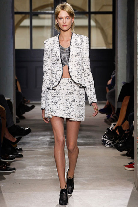 tweed suit Spring 2013 Balenciaga