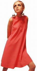 Twiggy orange dress