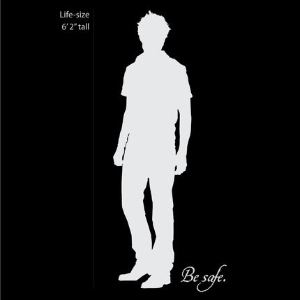 Twilight Robert Pattinson Vinyl decal black white silhouette
