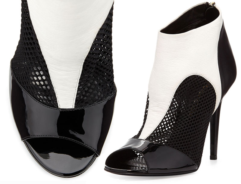 two toned black and white sandals Tamara Mellon