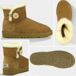 UGG Australia short mini Bailey button boots chestnut