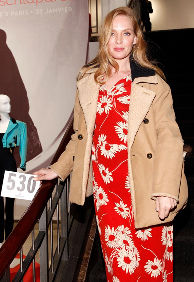 Uma Thurman fashion disaster New York Christies