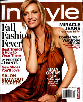 Uma Thurman Instyle US September cover