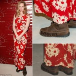 Uma Thurman Red Carpet snow boots Sorel