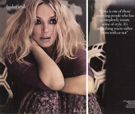 Uma Thurman Vogue UK July 2008