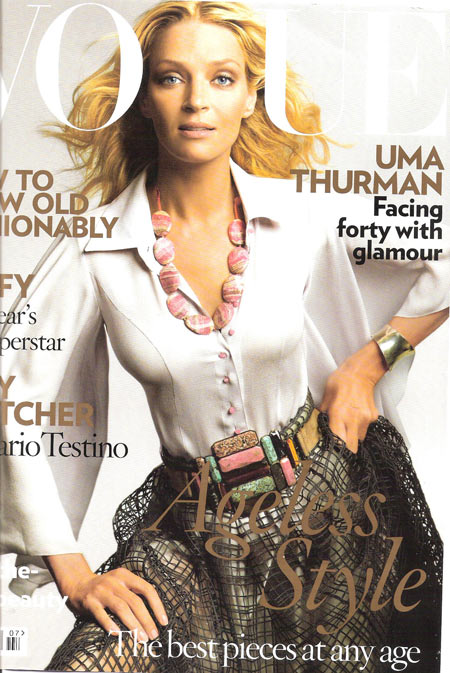 Uma Thurman Covers Vogue UK July 2008