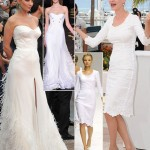 Uma Thurman white Versace white D G dresses Cannes 2011