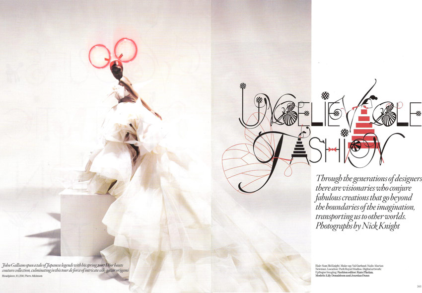 Unbelievable Fashion by Nick Knight for Vogue UK December 2008 pictures 1