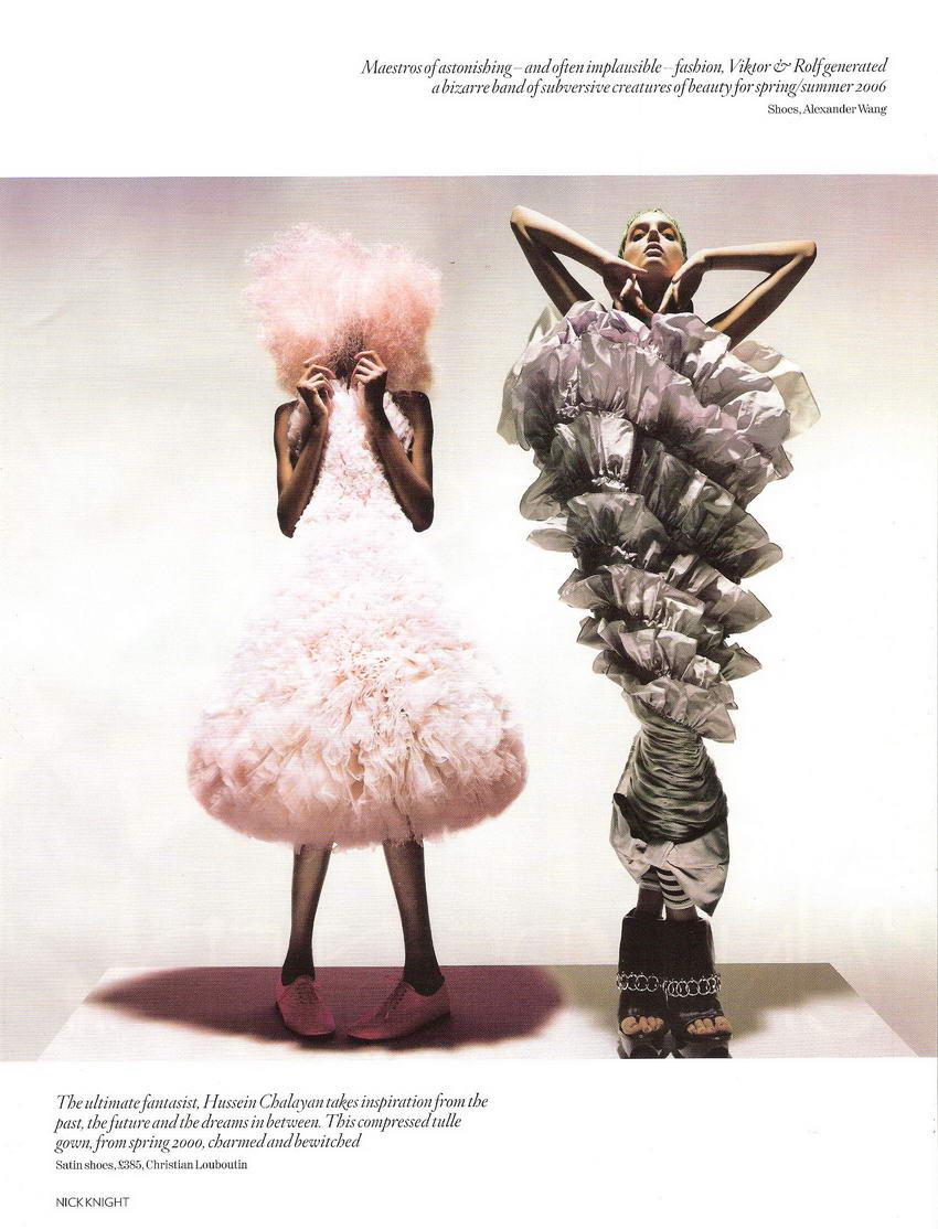 Unbelievable Fashion By Nick Knight for Vogue UK December 2008