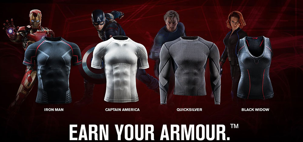 Under Armour special costumes for Avengers 2 Age of Ultron