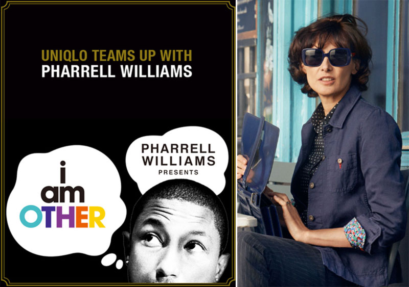 Uniqlo collections Pharrell Williams Ines de la Fressange