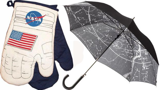 unique Christmas gifts Nasa oven mittens starry umbrella