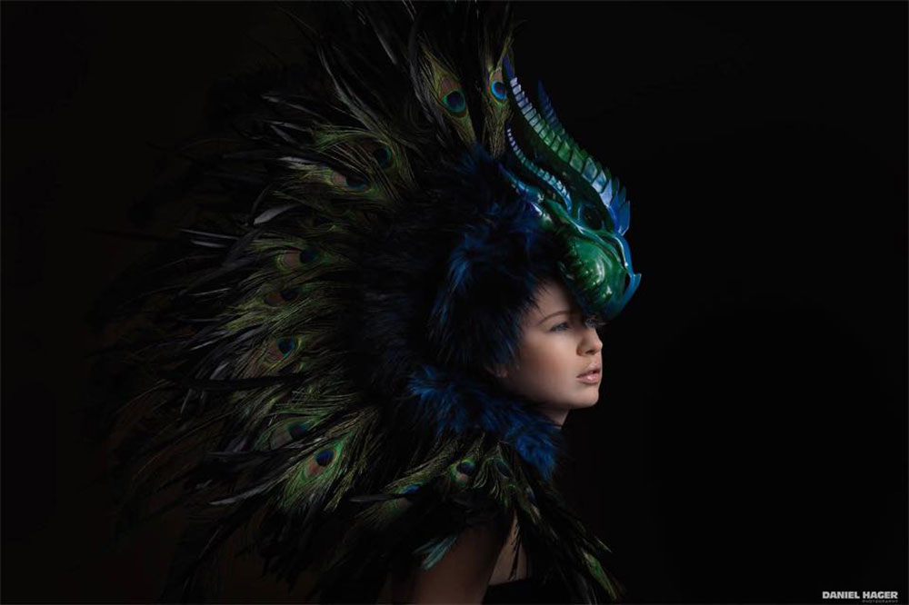 unique feathered headpiece posh fairytale couture