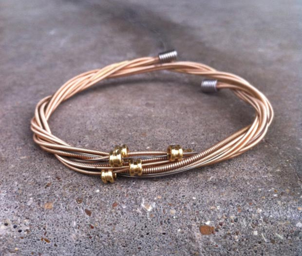 unusual bracelet recycled guitar strings