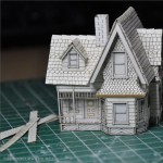 up house tiny model before painting