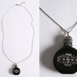 Urban Outfitters Perfume Bottle Necklace black