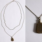Urban Outfitters Perfume Bottle Necklace chrome