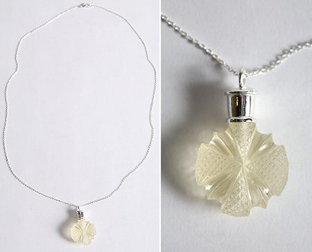 Urban Outfitters Perfume Bottle Necklace white