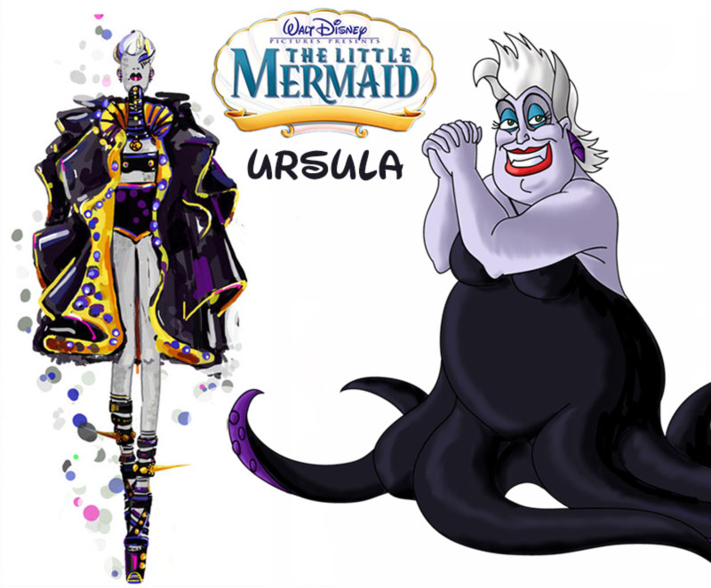Ursula fashion update Disney Villains Little Mermaid
